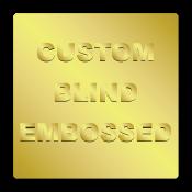 "1"" x 1"" Round Corners Square Custom Blind Embossed Stickers"