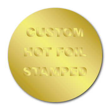 """2.5"""" Circle Custom Hot Foil Stamped Stickers"""
