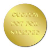"""0.75"""" Circle Custom Hot Foil Stamped Stickers"""