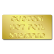"1"" x 1.5"" Round Corners Rectangle Custom Hot Foil Stamped Stickers"