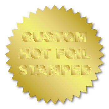 "2"" Serrated Edge (Starburst) Custom Hot Foil Stamped Stickers"