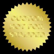 "1.25"" Serrated Edge (Starburst) Custom Hot Foil Stamped Stickers"