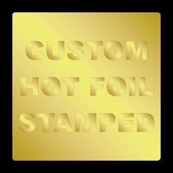 "1"" x 1"" Round Corners Square Custom Hot Foil Stamped Stickers"
