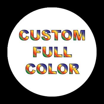 """1.5"""" Diameter Circle Custom Printed Full Color Stickers"""
