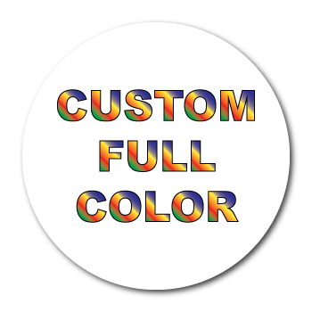Custom Printed Full Color Circle Labels Supplied on Sheets