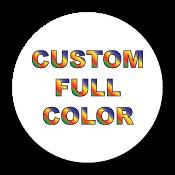 """0.75"""" Diameter Circle Custom Printed Full Color Stickers"""