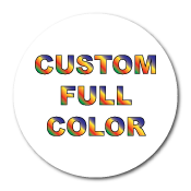 "1"" Diameter Circle Custom Printed Full Color Stickers"