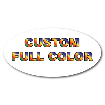 """0.75"""" x 1.25"""" Oval Custom Printed Full Color Stickers"""