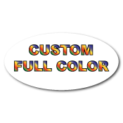 "2"" x 4"" Oval Custom Printed Full Color Stickers"