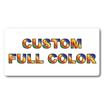 """0.25"""" x 1.5"""" Round Corners Rectangle Custom Printed Full Color Stickers"""