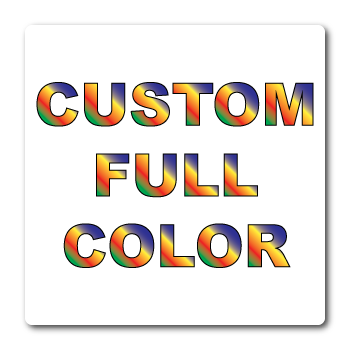 Custom Printed Full Color Round Corner Square Labels Supplied on Sheets