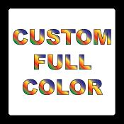 "0.5"" x 0.5"" Round Corners Square Custom Printed Full Color Stickers"