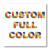 "1"" x 1"" Round Corners Square Custom Printed Full Color Stickers"