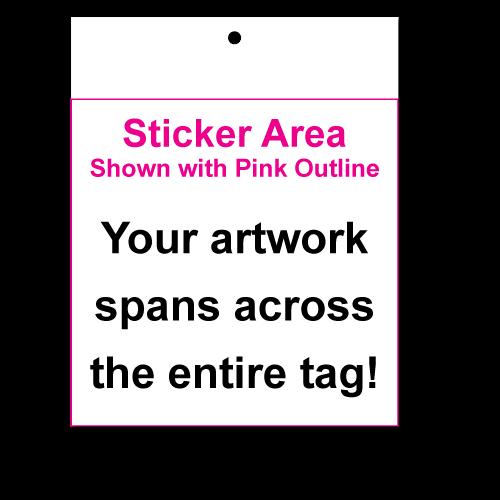"3"" x 3"" Square Corner Square Hang Tag Stickers"