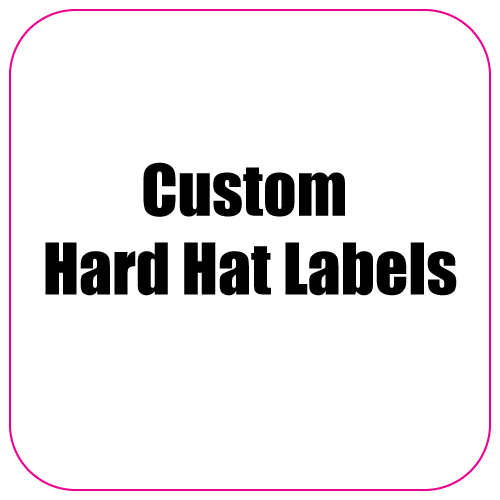 2.25 x 2.25 Round Corner Square Diamond Custom Printed Hard Hat Labels
