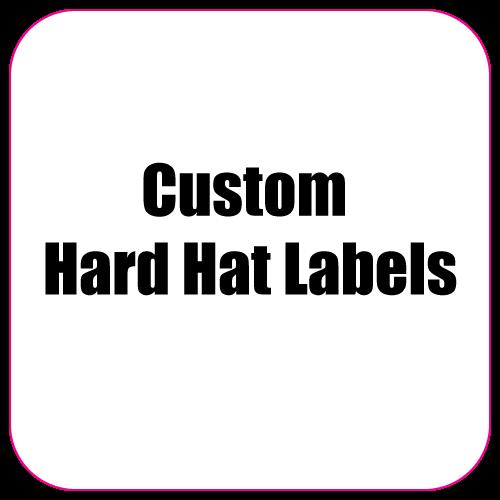 2.25 x 2.25 Round Corner Square Diamond Custom Printed Full Color Hard Hat Labels