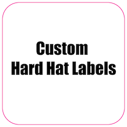 2.25 x 2.25 Round Corner Square Diamond Custom Printed Reflective Hard Hat Labels
