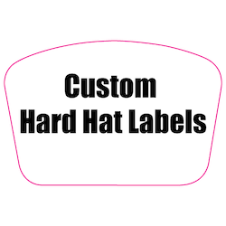 2 x 3 Custom Rectangle Custom Printed Reflective Hard Hat Labels