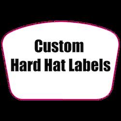 2 x 3 Custom Rectangle Custom Printed Reflective Hard Hat Labels