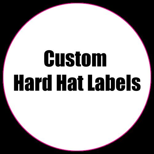 2.5 Circle Custom Printed Hard Hat Labels