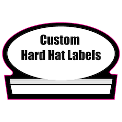 1.75 x 2.625 Custom Shape Custom Printed Hard Hat Labels