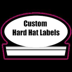 1.75 x 2.625 Custom Shape Custom Printed Reflective Hard Hat Labels