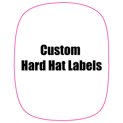 2 x 2.5 Modified Rectangle Custom Printed Hard Hat Labels