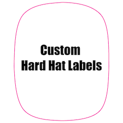 2 x 2.5 Modified Rectangle Custom Printed Reflective Hard Hat Labels