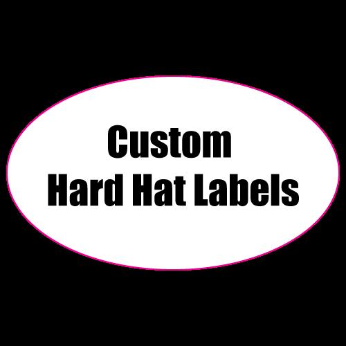 1.25 x 3 Oval Custom Printed Full Color Hard Hat Labels
