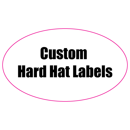 1.25 x 3 Oval Custom Printed Reflective Hard Hat Labels