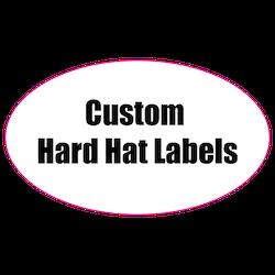 1.25 x 3 Oval Custom Printed Reflective Hard Hat Labels