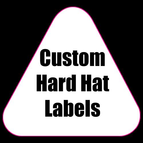 2.125 x 2.25 Round Corner Triangle Custom Printed Full Color Hard Hat Labels