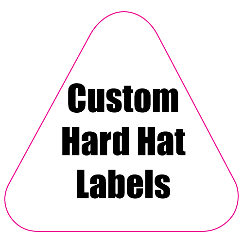 2.125 x 2.25 Round Corner Triangle Custom Printed Reflective Hard Hat Labels