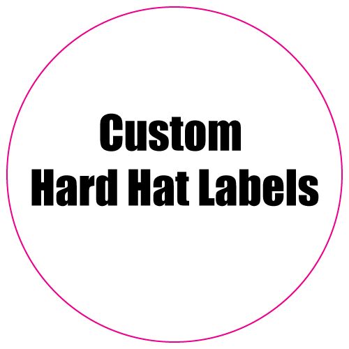 2 Circle Custom Printed Hard Hat Labels