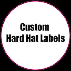 2 Circle Custom Printed Hard Hat Labels