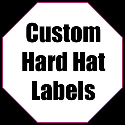 1.75 x 1.75 Octagon Custom Printed Hard Hat Labels
