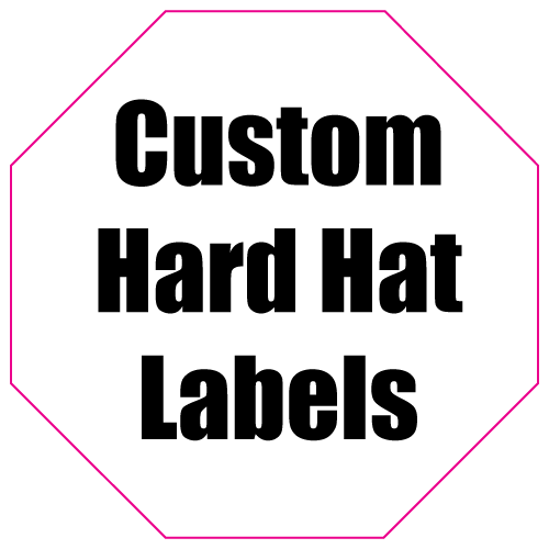 1.75 x 1.75 Octagon Custom Printed Hard Hat Labels