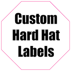 1.75 x 1.75 Octagon Custom Printed Reflective Hard Hat Labels