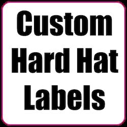 2 x 2 Round Corner Square Custom Printed Hard Hat Labels
