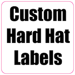 2 x 2 Round Corner Square Custom Printed Reflective Hard Hat Labels