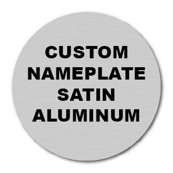 "4"" Circle Custom Printed Name Plate Aluminum Stickers"