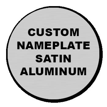 "3"" Circle Custom Printed Name Plate Aluminum Stickers"