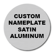 "1"" Circle Custom Printed Name Plate Aluminum Stickers"