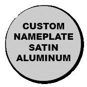 "2"" Circle Custom Printed Name Plate Aluminum Stickers"