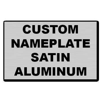"8"" x 6"" Square Corner Rectangle Custom Printed Name Plate Aluminum Stickers"