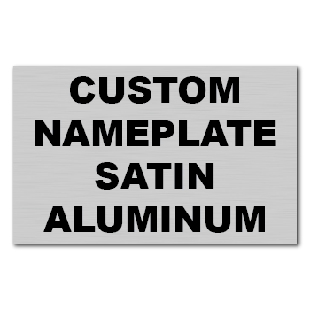 "4"" x 3"" Square Corner Rectangle Custom Printed Name Plate Aluminum Stickers"