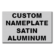 "5"" x 3"" Square Corner Rectangle Custom Printed Name Plate Aluminum Stickers"