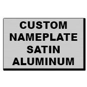 "4"" x 3"" Square Corner Rectangle Custom Printed Name Plate Aluminum Stickers"