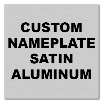 "3.5"" x 3.5"" Square Corner Square Custom Printed Name Plate Aluminum Stickers"
