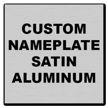 "3.5"" x 3.5"" Square Corner Square Custom Printed Name Plate Aluminum Stickers"